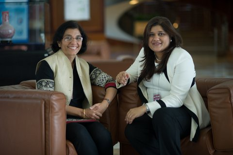 Sonia Chand Sandhu and Ramola Naik Singru lead the GrEEEn Cities Initiative for Southeast Asia at the ADB HQ.