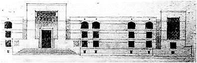 Architect Bimal Patel's Sketch for The Gujarat High Court